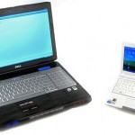 Laptop compared to a netbook