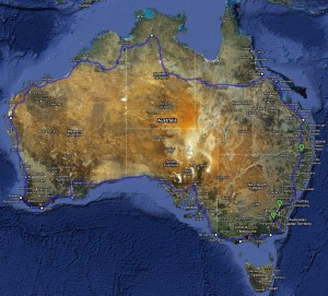 Ride Around Australia Itinerary