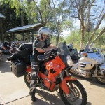 Adam and his KTM at Fitzroy Crossing