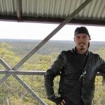 Glenn at the top of the Bicentennial Tree - 75m up