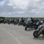 Around Australia riders at the Head of the Bight