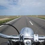 Long flat boring roads