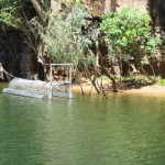 Crocodile trap in Katherine Gorge