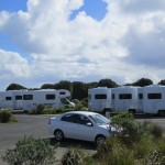 Campers travelling the Great Ocean Road